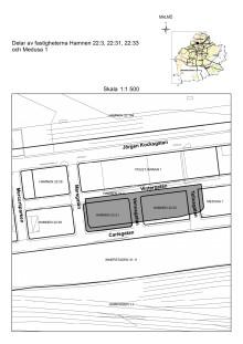 Karta fastigheten Hamnen 22:31 m fl