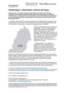 Värdebarometern 2017 Västerbottens län