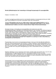 Brev til Regjering og Stortinget: Ber om forlenget kompensasjon for sesongbedrifter