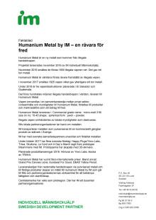Fakta Humanium Metal