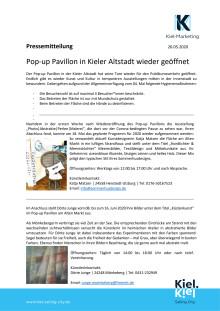 Pop-up Pavillon in Kieler Altstadt wieder geöffnet - maritime Kunstvielfalt