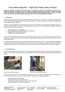 X-ray weld inspection – High-tech meets heavy industry
