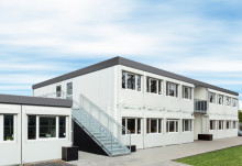 Temporäres Schulgebäude der Komfortklasse
