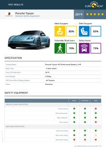 Porsche Taycan Euro NCAP datasheet December 2019