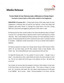 Former Radio DJ Ivan Rantung made a Millionaire at Changi Airport