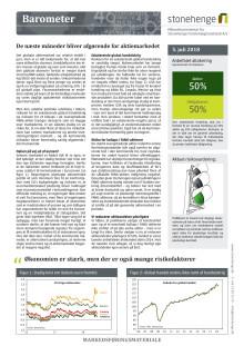 Barometer: De næste måneder bliver afgørende for aktiemarkedet