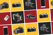 Dokumentärfotovinnare tar emot pris