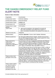 19-026-RO DERF Alert Note -Mindanao Earthquake
