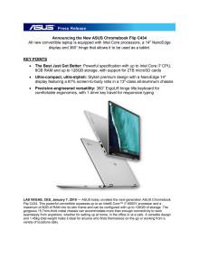 Announcing the New ASUS Chromebook Flip C434
