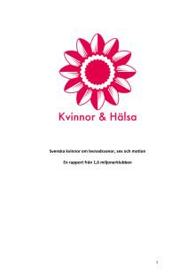 Rapport om kvinnors hälsa och levnadsvanor