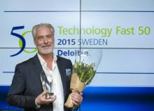Kaustik erhöll utmärkelse på Sweden Technology Fast 50