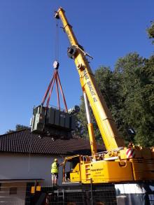 Neuer Trafo für Umspannwerk Herford - Westfalen Weser Netz investiert in Versorgungssicherheit