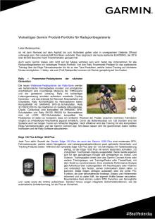 Garmin Produkt-Portfolio für Radsportbegeisterte