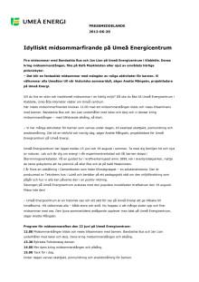 Idylliskt midsommarfirande på Umeå Energicentrum