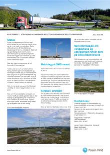 Nyhetsbrev 6/2020 Kvenndalsfjellet og Harbaksfjellet vindparker