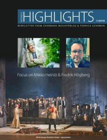Nordic Highlights No. 1 2018 – Newsletter from Gehrmans Musikförlag and Fennica Gehrmans