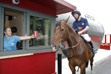 COSTA REVS UP WITH A DIFFERENT TYPE OF 'HORSE POWER' TO OPEN THE FIRST COSTA DRIVE THRU IN THE NORTH WEST