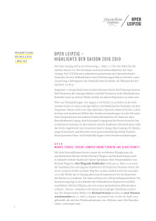 Langfassung der Pressemitteilung der Oper Leipzig
