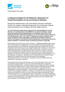 Lichtgeschwindigkeit für die Wedemark: Spatenstich im Kooperationsprojekt von htp und Deutsche Glasfaser