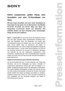 Kleine Lautsprecher, großer Klang: zwei Soundbars und eine TV-Soundbase von Sony