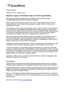 Afgørelse i sagen om Scandlines' klage over Femern-godkendelse