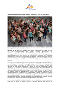 """Bewerbungsphase für dm-Projekt """"Singende Kindergärten"""" läuft bis Ende August"""