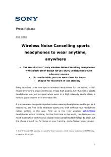 Sonys nye treningshodetelefoner er trådløse, støykansellerende og sprutsikre