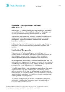 Remissvar Ordning och reda i välfärden  (SOU 2016:78)