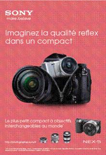 NEX : la campagne - Sony présente sa nouvelle génération d'appareils photo numériques dans une campagne de communication massive
