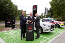 Mitsubishi Motors in Deutschland eröffnet größte öffentliche Elektrotankstelle Hessens