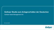Grafiken zur Gothaer Anlegerstudie 2020