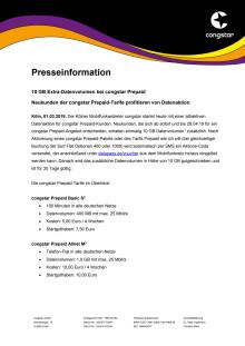 10 GB Extra-Datenvolumen bei congstar Prepaid