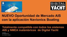 Oportunidad para Distribuidores - AIS en la aplicación Navionics Boating con Digital Yacht