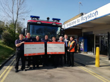​Great Northern thanks Royston Community Association and Fire Service for passenger support