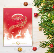 NYHET – LINDOR ADVENTSKALENDER. Njut av en härlig stund med oemotståndligt krämig LINDOR varje dag fram tills julafton.