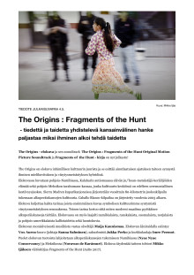 The Origins: Fragments of the Hunt (tiedote 4.5.2020)