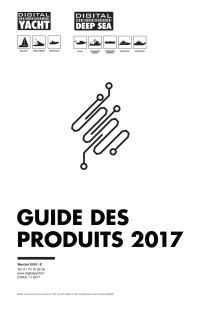 Catalogue des produits Digital Yacht 2017 - Nautic Paris