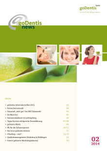 goDentis@news September 2014 - der Newsletter für die goDentis-Partnerpraxen