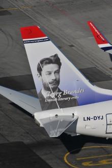 Georg Brandes på nyt Norwegian-fly