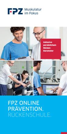 Flyer Online Prävention - Rückenschule