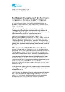 Nachfragebündelung erfolgreich: Glasfasernetz in der gesamten Gemeinde Borsdorf wird gebaut