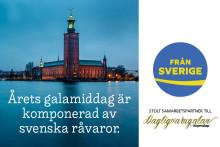 Dagligvarugalans galamiddag av råvaror Från Sverige