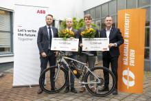 ABB:s Robotikstipendium tilldelas  studenter som utvecklat kontrollsystem för autonom cykel