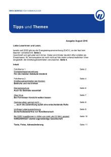 Tipps und Themen 8-2016