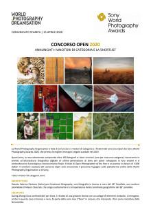 Sony World Photography Awards 2020 - Concorso Open 2020 - Annunciati i vincitori di categoria e la shortlist
