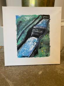 Auktion på Göta kanalmålning