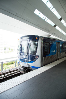 The Department of Transportation and Public Works places its first new Metrorail train in more than 30 years into service