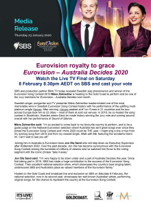 Eurovision royalty to grace Eurovision – Australia Decides 2020