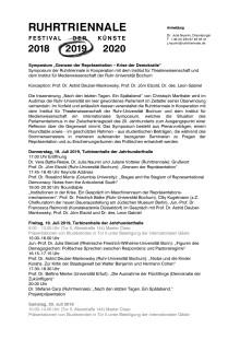 Symposium: Grenzen der Repräsentation - Krise der Demokratie (Programm)