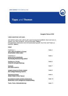Tipps und Themen 2-2016